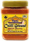 Rani Chilli Powder (Mirchi) Ground Indian Spice 16oz (454g) ~ All Natural, No Color added, Gluten Friendly | Vegan | NON-GMO | No Salt or fillers