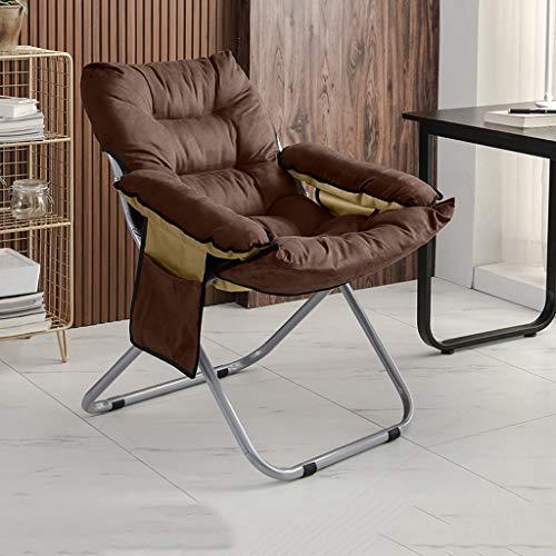 GXCBHIUBUI GXC klapstoel voor het huis, 3 rijen verstelbaar, van katoen, bekleed, creatief, opbergtas, multifunctioneel, ergonomisch, antislip