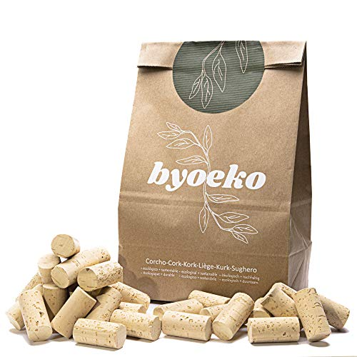 Byoeko Corcho para Botellas, Corcho de Vino, Manualidades con Corcho, decoración con Corcho, Tapones de Corcho 44 X 23. 100 Unidades