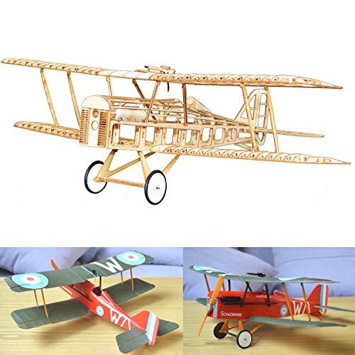 RAF SE5A Slow Flyer KIT, 380 mm Spannweite, Maßstab 1/20, Modellflugzeug zum selber Bauen, Balsa Holz Bausatz, RC Flugzeugmodell Baukasten, Lasercut, RC Flugzeugmodell, 48,4 Fluggewicht, Doppeldecker