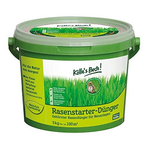 Kölle\'s Beste Rasen Starterdünger für einen prächtig grünen und dichten Rasen, praktisches Granulat, für alle Rasensorten geeignet, zur Düngung im Frühjahr und Neuanlagen, 1 kg