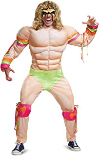 Disguise Men's Ultimate Warrior Muscle Adult Costume