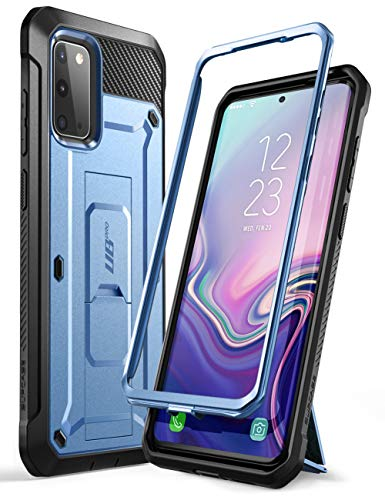 SUPCASE UB Pro Series Designed for Samsung Galaxy S20 / S20 5G Case (2020 Release), Full-Body Dual Layer Rugged Holster & Kickstand Case Without Built-in Screen Protector (MetallicBlue)