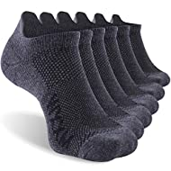 Ankle Running Socks,WXXM Breathable Mesh Cushioned Comfort Cool Low Cut Tab Socks 3/6 Pairs