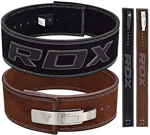 RDX Powerlifting Belt for Weight Lifting - Approved by IPL and USPA - Lever Buckle Gym Training...
