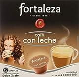 Café Fortaleza – Cápsulas Compatibles con Dolce Gusto, Sabor Café con Leche, Pack 12x3 - Total 36