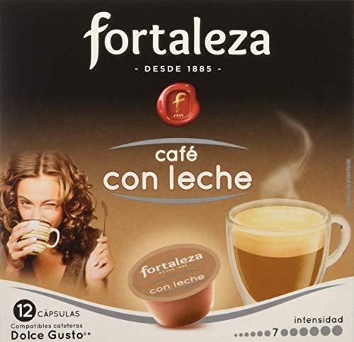 Café Fortaleza – Cápsulas Compatibles con Dolce Gusto, Sabor Café con Leche, Pack 10x3 - Total 30