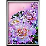 SBNKYQSL DIY 5D Diamant malerei Rose vase Blume Blumen runde Diamant mosaik Dekoration Muster handgemachte neujahrsgeschenk 30 * 40 cm