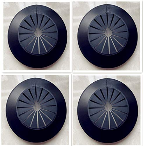 Wall Flange Easy Installation Plastic Radiator Escutcheon Water Pipe Drain Line Cover Collar Wall Pipe Cover Decoration Pipe Collars,Pipe Collar Cover, (Within 1.96 inch, black)