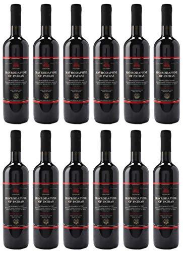 "12x 0,75l Mavrodaphne aus Patras P.D.O. Loukatos Likörwein rot   15% Vol.   + 1 x 20ml Olivenöl""ElaioGi"" aus Griechenland"