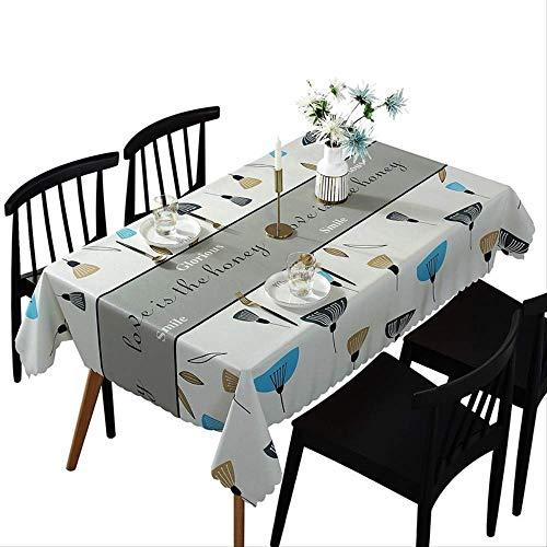 Tafelkleed Cartoon Tafellamp Verjaardagsfeestje Thema Thuis Spatbestendig en wasbaar tafelkleed (rechthoekig, polyester, 55 x 78 inch)