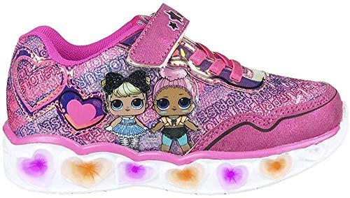 CERDÁ LIFE'S LITTLE MOMENTS Jungen Surprise Licht | LOL LED Schuhe Mädchen Offizieller Lizenz, Pink, 33 EU