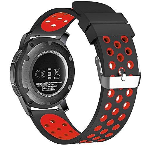 Tyogeephy Compatible con Garmin Vivoactive 3 Correa de Reloj, 20mm Silicona Banda de Repuesto para Samsung Galaxy Active 2/ Garmin Forerunner 645 /Samsung Gear Sport/Garmin Venu/Galaxy Watch 42mm