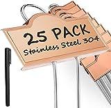 Etiquetas de metal para plantas para jardín 25 piezas,...