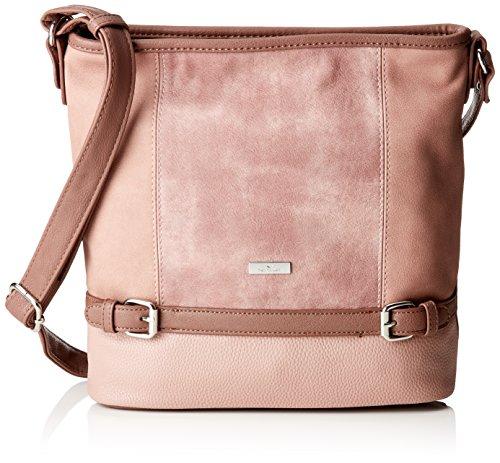 TOM TAILOR Umhängetasche Damen Juna, Rot (Rose), 10x28x30 cm, TOM TAILOR Taschen für Damen, Handtasche, Schultertasche, Hobo