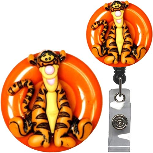 Pooh and Crew Real Charming Decorative ID Badge Holder (Tigger Swivel Alligator)