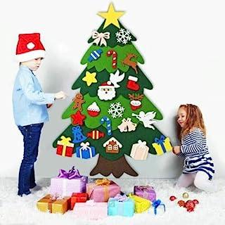Australove DIY Felt Christmas Tree with 20 LED Lights,32pcs Ornaments Christmas Window Door Wall Hanging Decorations, Xmas...