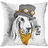THE BEST FIT DAILY USE SIZE: 18x18inches Polyester material throw pillowcase Hidden zipper closure, insert are not included TRENDY DESIGN: Simple patterns printed on linen fabric, make a modern and natural look to your room.Suitable for sofa,bed,home...