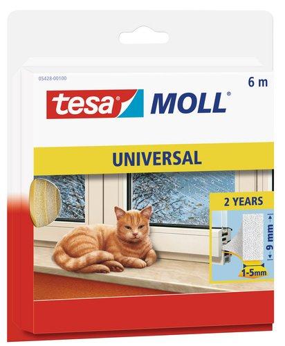 tesamoll Schaumstoffdichtung für Fenster und Türen, einfache Qualität, 6m x 9mm