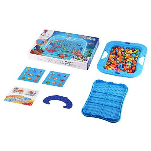 Refago Baby Early Childhood Mushroom Nails Jigsaw Platter Pegs Educational Toys