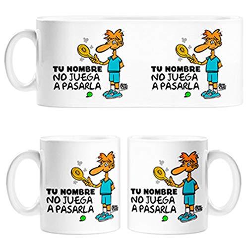 Diver Tazas Taza Padel yo no Juego a pasarla Personalizable con Nombre - Cerámica