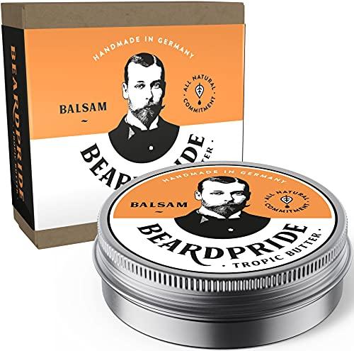 BEARDPRIDE Bartbalsam Männer - Tropic Butter - Das Original Bart Balsam aus dem Barbershop - Unser Beard Balm basiert auf natürliche Kokosbutter und Ölen - Bartbalm - Geschenk für Männer - 55g