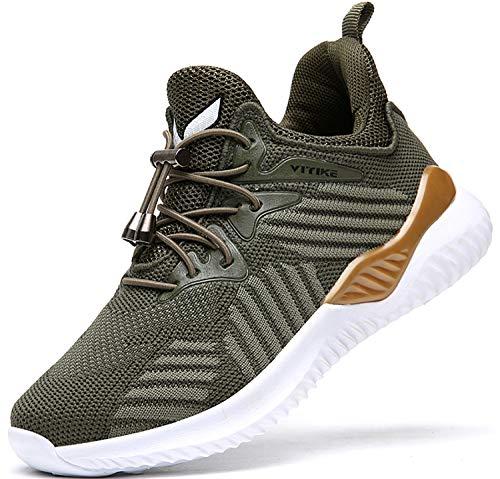 ASHION Dziecięce buty sportowe dla chłopców i dziewczynek, buty sportowe, buty do biegania, uniseks, - zielony A - 33 EU