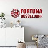 alenio Wandtattoo Fortuna Düsseldorf Logo mit Schriftzug