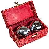 JapanBargain S-3297, Baoding Balls Chinese Health Exercise Stress Balls, Chrome Color