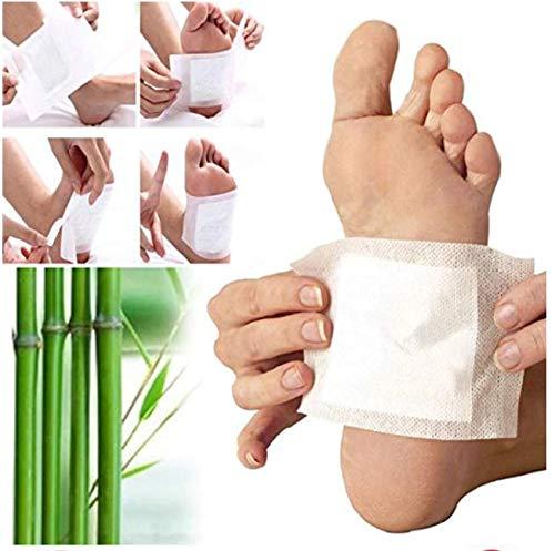 Detox Pflaster Fuß, Kapmore 100 PCS Detox Fußpflaster entgiftungspflaster füße zum Entfernen von Körpergiften Schmerzlinderung Gesundheitspflege Fußpflege-Pads (Grün)