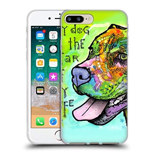 Head Case Designs Oficial Dean Russo La Estrella de mi Vida Perros 6 Carcasa de Gel de Silicona Compatible con Apple iPhone 7 Plus/iPhone 8 Plus