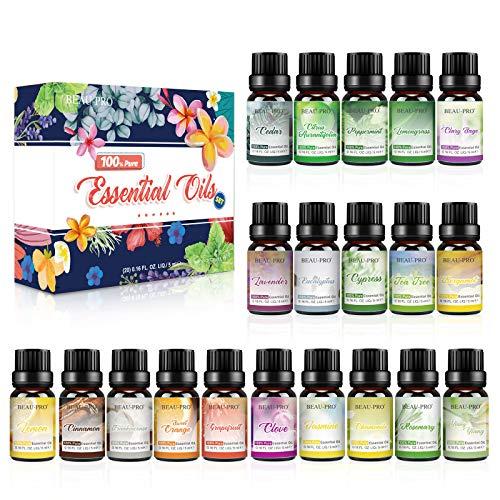 Ätherische Öle Set für Aroma Diffuser,100% Pure Naturrein Ätherisches Öl,Aromatherapie Duftöl Geschenkset,Top 20 x 5ml Essential Oils Set für...