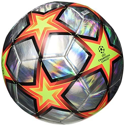 adidas unisex-adult Finale 21 Training Hologram Foil Soccer Ball Multicolor/Solar Red/Solar Yellow/Black 4