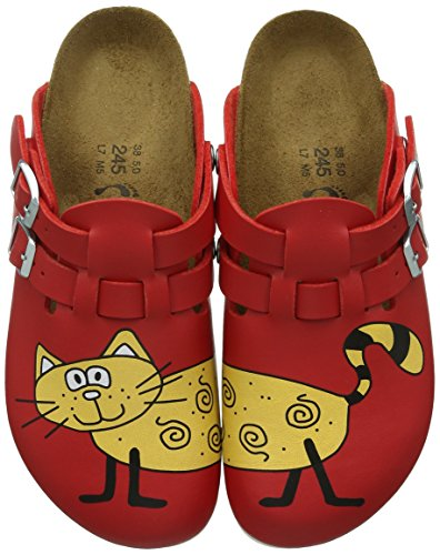 Birkenstock Kay Birko-Flor, Damen Clogs, Rot (Cat Red), 39 EU