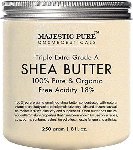 Majestic Pure Shea Butter, Organic Virgin Cold-Pressed Raw Unrefined...