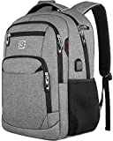 Laptop Backpack,Business Travel Anti Theft Slim Durable Laptops Backpack with USB Charging Port,Water Resistant College School Computer Bag for Women & Men Fits 15.6 Inch Laptop and Notebook - Grey