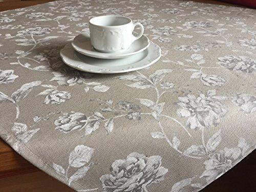Provencestoffe.com Roman tische Elegante Rose, Circa 90x 90cm, pflegeleicht per Dentro e Fuori