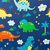 Canvas Stoff Dekostoff Baumwollstoff Dinos ab 50 cm (1,5m)