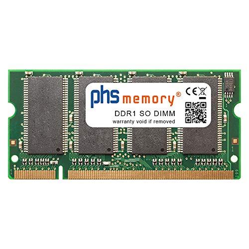 PHS-memory 256MB Drucker-Speicher passend für HP DesignJet 510 (CH337A) DDR1 SO DIMM 333MHz PC2700S