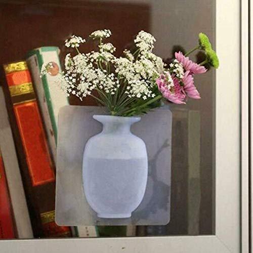 Fayeille Verwijderbare Siliconen Vazen Sticky vaas op de Muur, Bloemenvaas Decoratie Geschikt voor Feest, Tentoonstelling, Thuis, Kantoor Kleur: wit