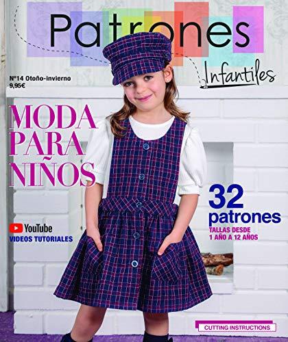 Revista Patrones Infantiles nº 14. Patrones de costura infantil. Moda Otoño-Invierno. 32 modelos de patrones niña, niño, con tutoriales paso a paso en vídeo (Youtube).
