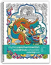 Action Publishing Coloring Book: Mythical Enchantments & Wondrous Curiosities · Unique Fantasy Creatures, and Fairy Tale Designs for Stress Relief and Creativity · Large Sidebound (8.5 x 11 inches)