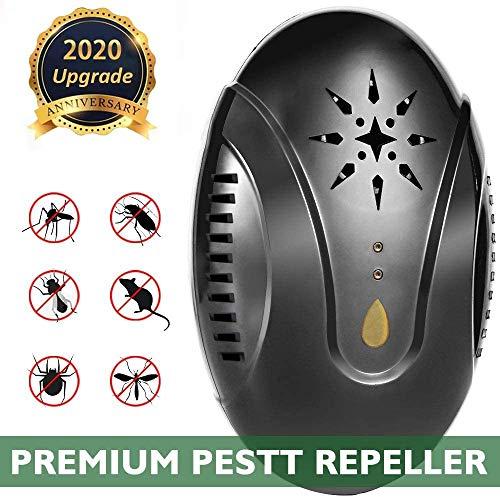 Microvolt Repellente Ultrasuoni Elettronico per parassiti Professionale, Miglior Disinfestatore per Parassiti, Zanzare, Scarafaggi, Ragni, Topi, Insetti, Formiche, Mosche, ECC.