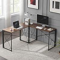 VECELO 59'' x 59'' Large L Shaped Computer Corner Desk