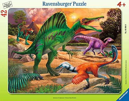 Ravensburger Kinderpuzzle - 05094 Spinosaurus - Rahmenpuzzle für Kinder ab 4 Jahren, mit 42 Teilen