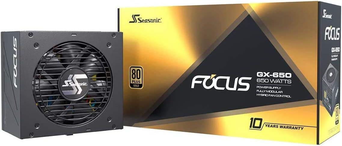 Fuente de alimentación para PC Seasonic FOCUS GX-650 con alimentación completa 80PLUS Gold 650 vatios