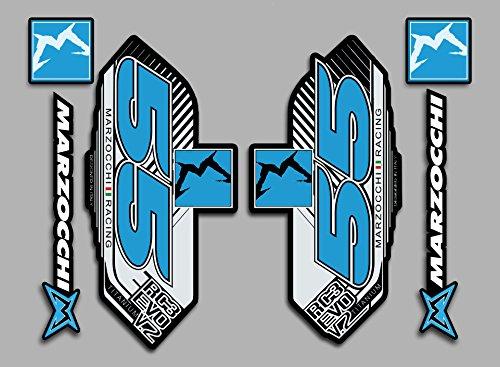 Ecoshirt DI-KVY8-4XYS Stickers Autocollants Kit Marzocchi Fdp18 Stickers Autocollants Bleu