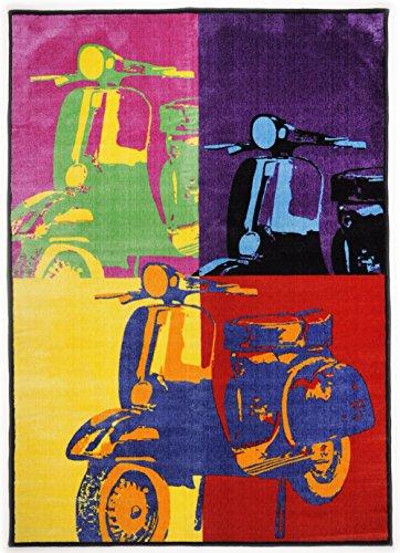 Tapis de jeu pour tapis/roller tapis de qualité en italien typique jugendteppich/multicolore/enfant belle wohnzimmerteppich résistant wohnzimmerteppich// modèle vespa ce joli tapis, la taille 120 x 180 cm ce tapis de long/étonne par son coloris muster. est établi pour tous les regards dans chaque zuhause. dimensions : env. 120 x 180 cm, dans la collection tapis moderne young fashion attendre dans des designs sur votre nouveau zuhause. dans son moderne qui wohnwelt un jeu idéal si vous souhaitez fixer garantit un nouveau lieblingsstück. motifs originaux et intéressant materialmixe offrent beaucoup de place pour une créativité inneneinrichtung. garçon sont vos amis !