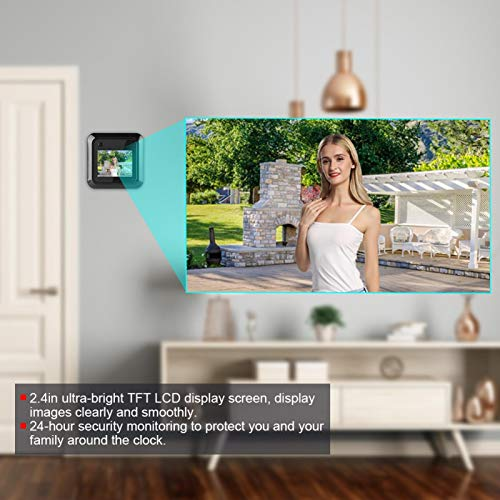 Timbre de videoportero con pantalla LCD TFT de 2,4 pulgadas, para apartamento