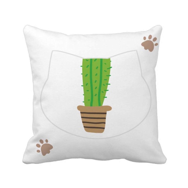 ヘルシー消費者移民緑のサボテンの鉢植えの多肉植物 枕カバーを放り投げる猫広場 50cm x 50cm
